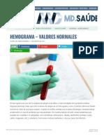 HEMOGRAMA - Valores Normales » MD.sauěde