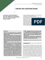 Post Operative Uric Acid and AKI