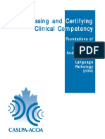 FOUNDATIONS - Assessing and Certifying Clinical Competency