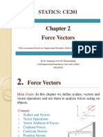 CE201 Statics Chap2