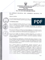 Dirección Regional de Agricultura de Tacna, aprobación del ROF