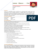 Mr. Raymond Blanco's Updated CV February 2017