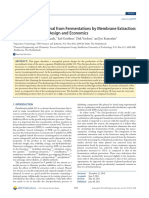 In-Situ Product Removal From Fermentations by Membrane Extraction- Conceptual Process Design and Economics