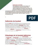Definicio Conceptual de La Bondad El Perrroooooooo