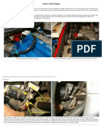 Starter Motor removal and repair