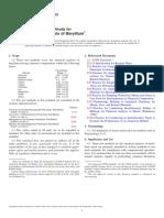 E439-10 Standard Test Methods for Chemical Analysis of Beryllium