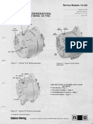 Delco Remy Alternator 10si 15si 27siScribd