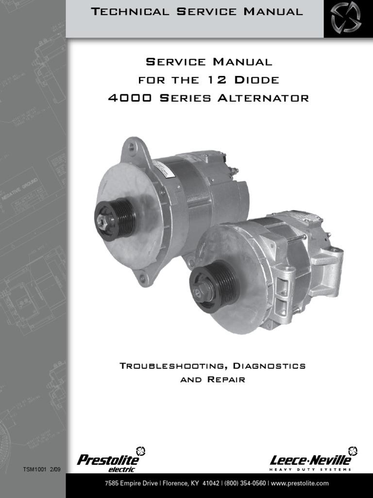 Leece Neville 4000 Series Alternator Service Manual Direct Current Force