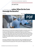 Medical Innovation_ When Do the Costs Outweigh the Benefits_ - Knowledge@Wharton
