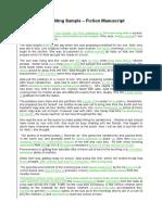 Book Editing Sample - Fiction Manuscript