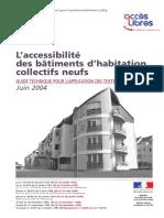 Accessibilité Des Batiments d'Habitation Collectifs Neufs