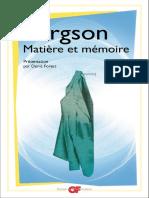 Bergson Matiere