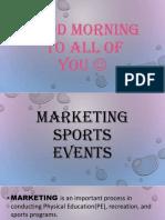 Marketing Sports Events