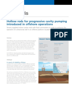 Hollow Rods for Porogressive Cavity Pumping Introduce in Offshore Operations