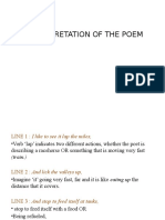 Intrepretation of Poems