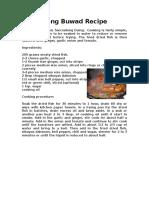 Sarciadong Buwad Recipe