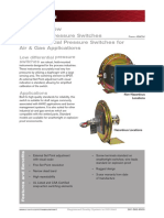 Cameron 107 Differential Pressure Switches Technical Data Sheet