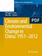 Climate and Environmental Change in China 1951–2012