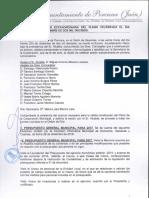 Acta de diciembre  de 2016 del Pleno Municipal  del Ayuntamiento de Porcuna