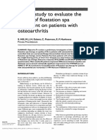 Effects of Floatation on Osteoarthritis