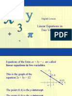 2-2 Linear Equations - Slope