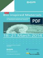 Program Bio Inspired Materials 2014