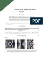 Magic Angle Precession and the Riemann Zeta Function