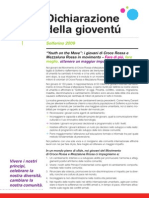 Solferino Youth Declaration (IFRC) - Italian