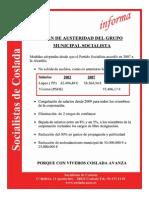 Plan de Austeridad Grupo Municipal Socialista de Coslada