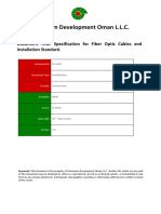 Fiber Optic Cables and Installation Standard