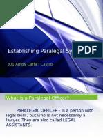 Establishing Paralegal System