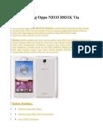 Cara Flashing Oppo NEO3 R831K via Flashtool