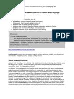 es1103 week 2 tutorials1and2 overview of academic discourse genresand language