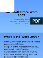 Microsoft Word Parts