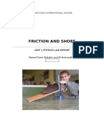 Friction and Shoes