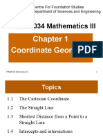 FHMM1034 Chapter 1 Coordinate Geometry 201610 Standardised 1