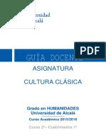 Guia Docente_Cultura Clásica