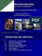 Curso Hidrologia Aplicada Introducción - CAPITULO PRIMERO