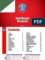 Nutritional Analysis 2015 Regular