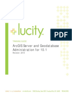 Arcserver and Geodatabase Administration