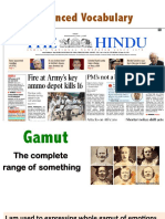 Vocabulary Hindu Newspaper