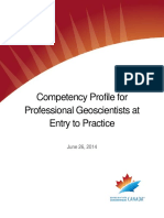 Geoscientists Canada Competency Profile for Professional Geoscientists