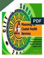 Mauswag Na Ciudad Health Service