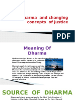 Dharma and Changing Concepts of Justice