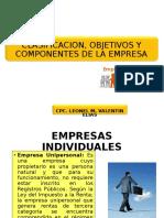 2° SEMANA CLASIFICACIÓN, OBJETIVOS Y COMPONENTES DE LAS EMPRESAS.ppt