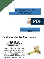 3° SEMANA VALORACIÓN DE EMPRESAS