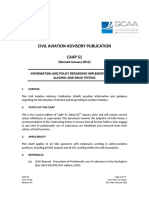 Caap 51 Information and Policy Regarding Implementation of Alcohol and Drug Testing
