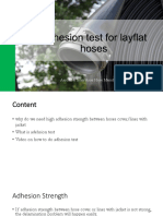 Adhesion Test for Layflat Hoses