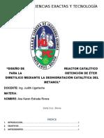 Diseño de Reactor Catalítico
