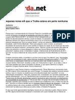 Francisco Louçã -  Aquelas Horas Em Que a Troika Esteve Em Parte Nenhuma - 2017-02-11